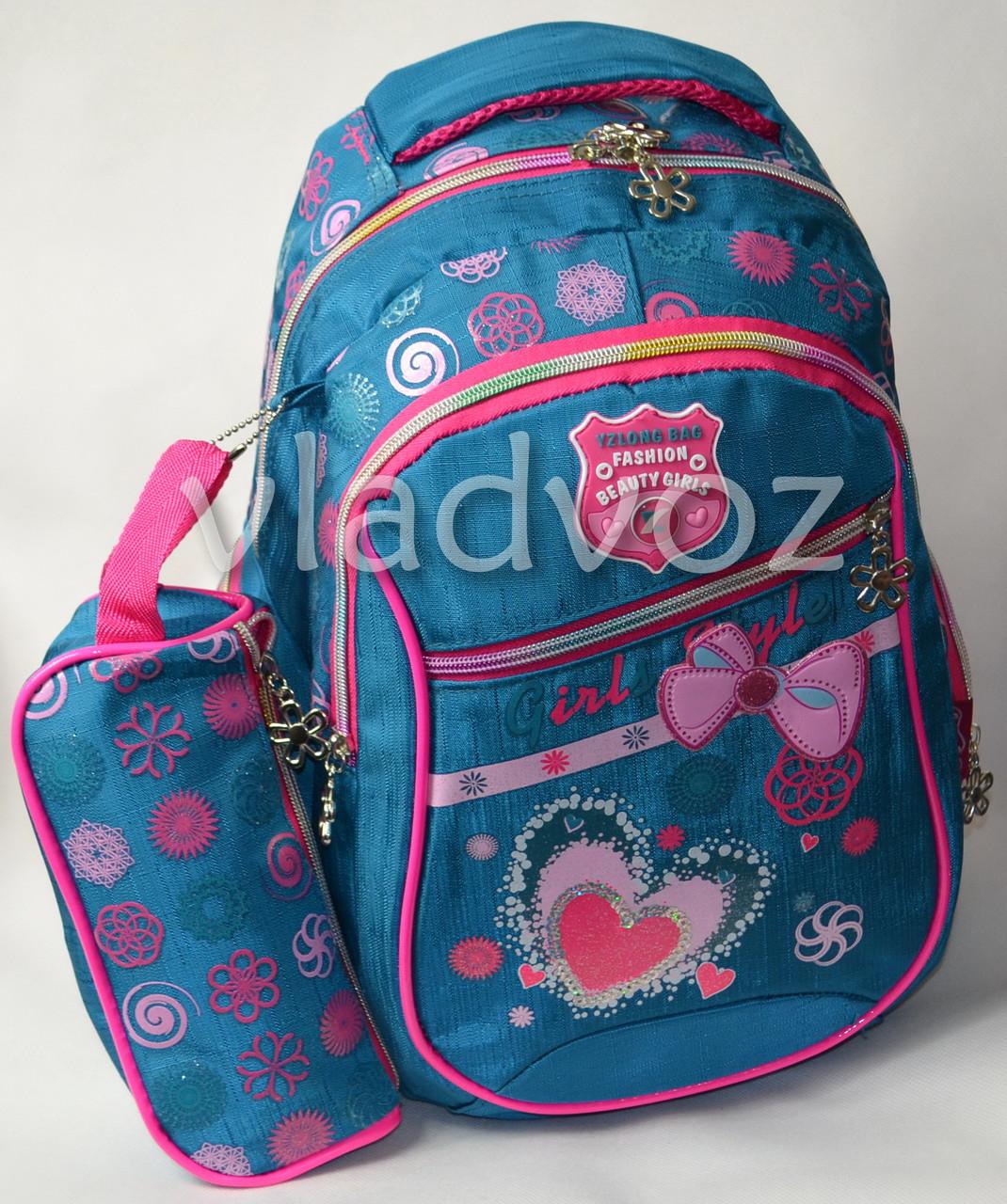017f9ee6da00 Школьный рюкзак для девочки с пеналом бантик зел. - ☎ VIBER 0977864700  интернет магазин vladvoz
