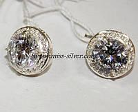 Серьги серебряные Диана - 2, фото 1