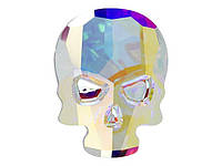 Cтразы Swarovski для ногтевого дизайна череп 2856 Crystal AB 10x7,5 мм