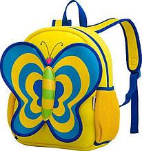 Красивый рюкзак, бабочка Nohoo NH014-2, желтый 5 л