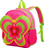 Отличный рюкзак, бабочка из неопрена на 5 л. Nohoo NH014-3, розовый