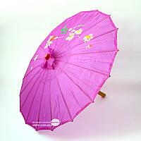 Зонт шелковый с рисунком L~38см, Ø~56см (18008)
