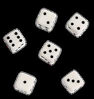 Игральные кости / кубики / зарики ручной работы с натурального камня 12мм