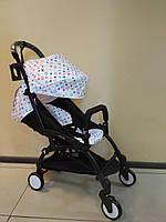 Детская коляска YOYA 175 Abstraction, 3 ярусный капор, Лавсан, легкая, складная, компактная Йойа абстракция