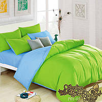 Евро комплект постельного белья из поплина Р01-05
