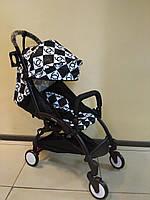 Детская коляска YOYA 175 Chanel, 3 ярусный капор, Лавсан, легкая, складная, компактная Йойа шанель