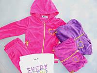 Велюровый костюм - тройка для девочек Taurus 98-104-110-116-122-128рр