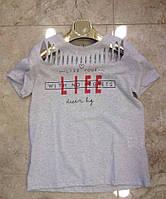Стильная женская футболка Размеры М  Л  ХЛ Серый и черный цвет, фото 1