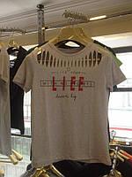 Практичная женская футболка Размеры М  Л  ХЛ Серый и черный цвет