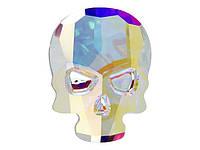 Кристаллы Сваровски клеевые Череп 2856 Crystal AB, фото 1