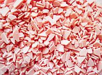 Глазурь кондитерская розовая в осколках с клубничным вкусом, Украина (цена за 100г)