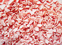Глазурь розовая в осколках