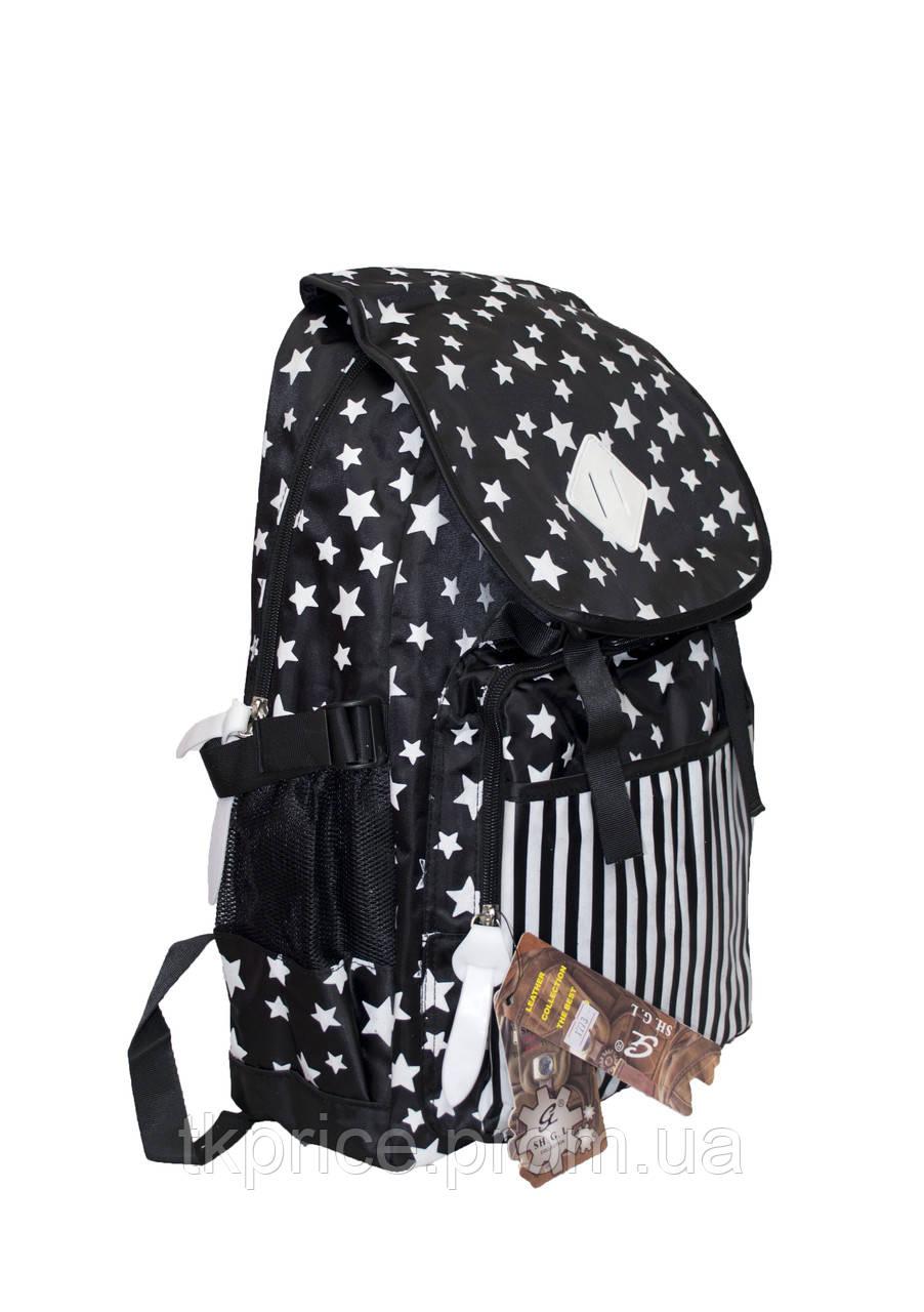 Универсальный прочный рюкзак для школы и прогулок черный