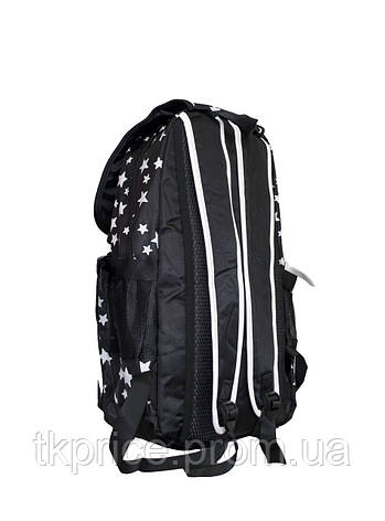 Универсальный прочный рюкзак для школы и прогулок черный, фото 2