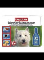 Beaphar Caniguard Spot On 3 пипетки- капли от блох и клещей для щенков и собак средних пород (7-15 кг) (13204)