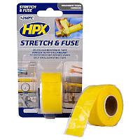 HPX Силиконовая вулканизирующая лента для газа STRETCH & FUSE желтая 25 мм x 3 м