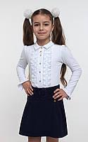 Юбка школьная с гипюровой кокеткой ТМ СМИЛ