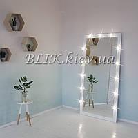 Ростовое зеркало с подсветкой (белое, 180х90), фото 1