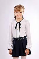 Классические шорты-юбка для девочки синего цвета