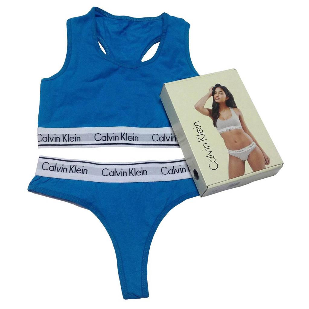 Женский комплект Calvin Klein голубой