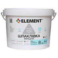 Шпаклевка Element финишная белая 8 кг