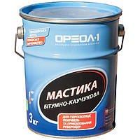 Мастика битумно-каучуковая МГББ Ореол-1  3 кг