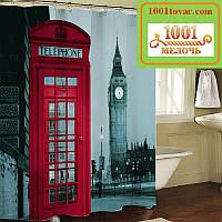 """Шторка для ванной комнаты """"Лондонский Биг Бен"""", 180х180 см., фото 1"""