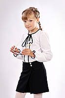 Школьные шорты-юбка для девочки черного цвета
