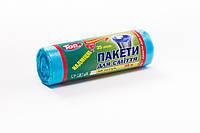 Мешки (пакеты) для мусора полиэтиленовый (мусорный пакет) Top Pack® 35л 30шт/рулон голубой