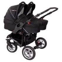 Универсальная коляска для двойни Zekiwa - Sport Duo, цвет черный