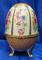 Яйцо шкатулка керамическое (15х10х10 см)