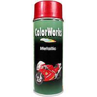Аэрозоль ColorWorks эффект металлик красный 400 мл