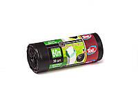 Мешки (пакеты) для мусора полиэтиленовый (мусорный пакет) Top Pack® 60л 30шт/рулон черный