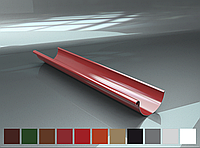 Желоб водосточный Raiko 125/90 графит 2м