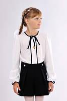 Элегантные детские школьные шорты-юбка чёрного цвета