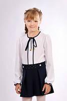 Школьные  детские шорты-юбка синего цвета