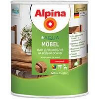 Лак Alpina Aqua Mobel шелковисто-матовый 2.5 л