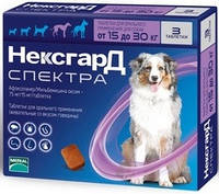 Некс Гард Spectra Таблетки для собак весом от 15 до 30 кг, 1 шт