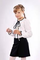 Модные детские школьные шорты-юбка на запах
