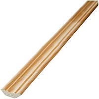 Плинтус деревянный для потолка декор 25х25х2500 срощеный сосна