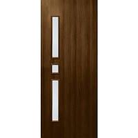 Дверь межкомнатная ОМиС Комфорт 80 см орех со стеклом