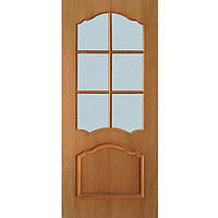 Дверь межкомнатная ОМиС Каролина ПО 70 см дуб тонированный под стекло