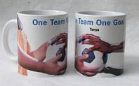 Чашки кружки  с нанесенным на них изображением