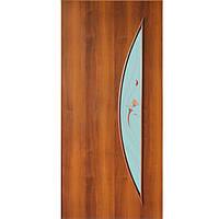 Дверь межкомнатная Омис Парус 80 см орех со стеклом