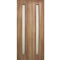 Дверь межкомнатная ОМиС Ника 80 см золотой дуб со стеклом