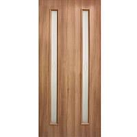 Дверь межкомнатная Омис Ника 70 см золотой дуб со стеклом