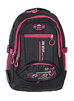 Рюкзак школьный T&L 100109-1 Черный,малиновый