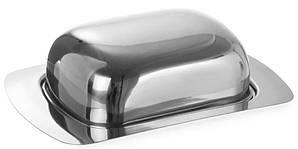 Масленка с крышкой нержавеющая сталь 18х12,5 см. APS