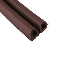 Уплотнитель самоклеющий резиновый Hardex 9999-000004 12x10 мм коричневый