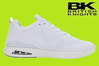 """Кроссовки фирменные BK (British Knights) """"Energy"""" - USA. Мужские брендовые кроссовки. Летние кроссовки белые."""